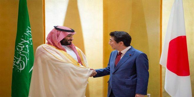 ولي العهد السعودي مع رئيس الوزراء الياباني