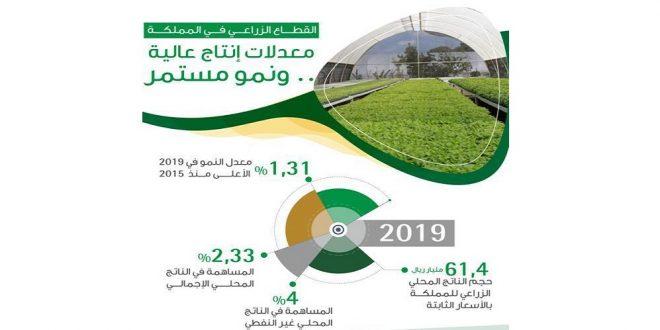 الناتج الزراعي للمملكة