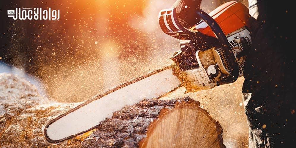 مشروع تدوير نشارة الخشب