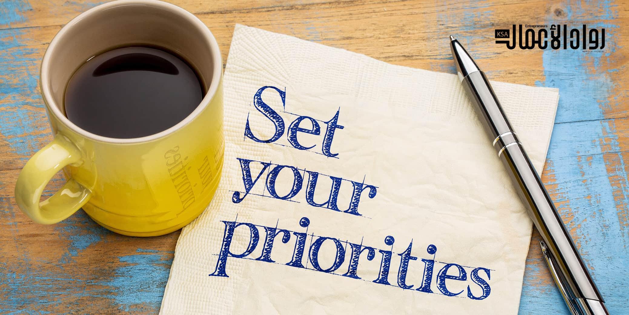 كيف تعيد ترتيب أولوياتك
