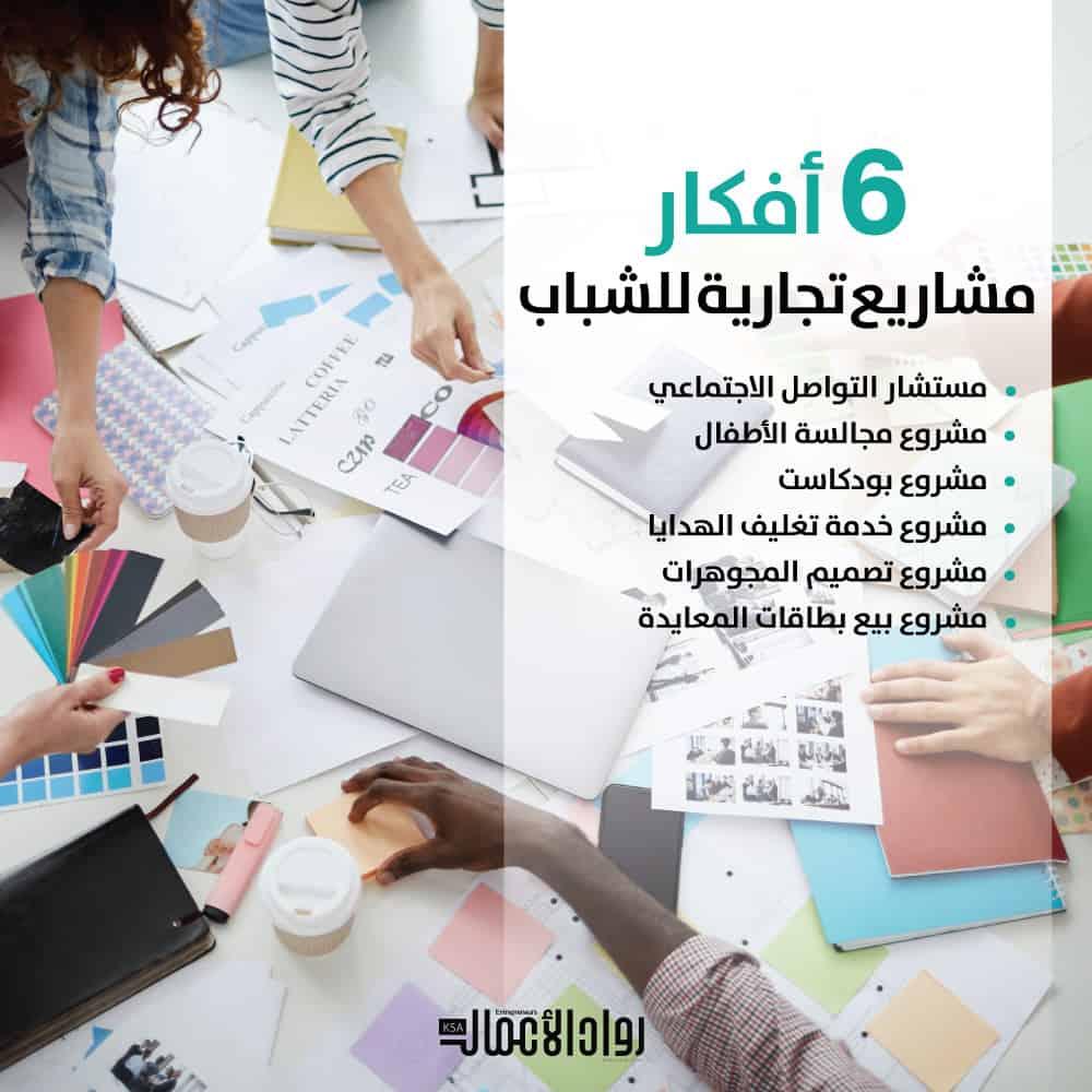 أفكار مشاريع تجارية للشباب