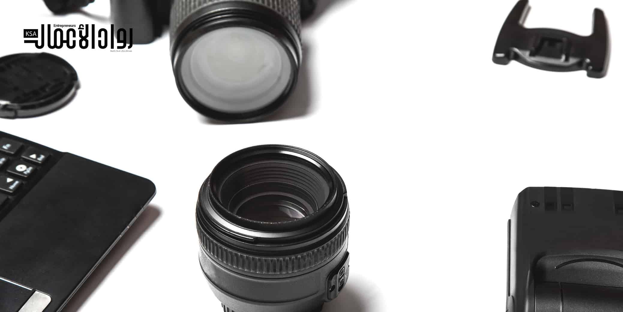 مشروع بيع معدات التصوير