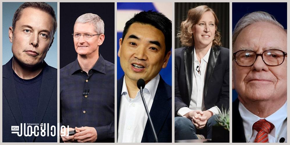 أفضل 5 مدراء تنفيذيين في العالم.. فن القيادة والابتكار